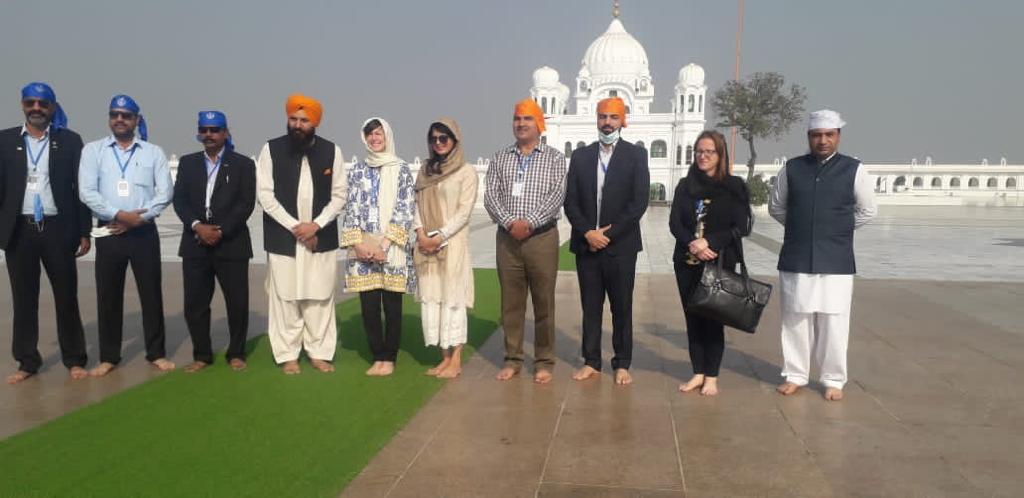 Diplomatic staff from UK HC in Islamabad visited Kartarpur Corridor today.