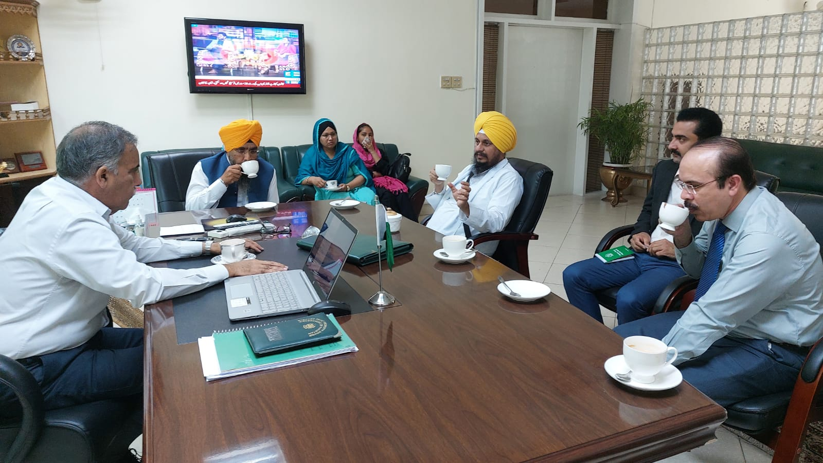 Giani Harpreet Singh Jathedar Akal Takht (Golden Temple), India met with Dr. Aamer Ahmed, Chairman ETPB