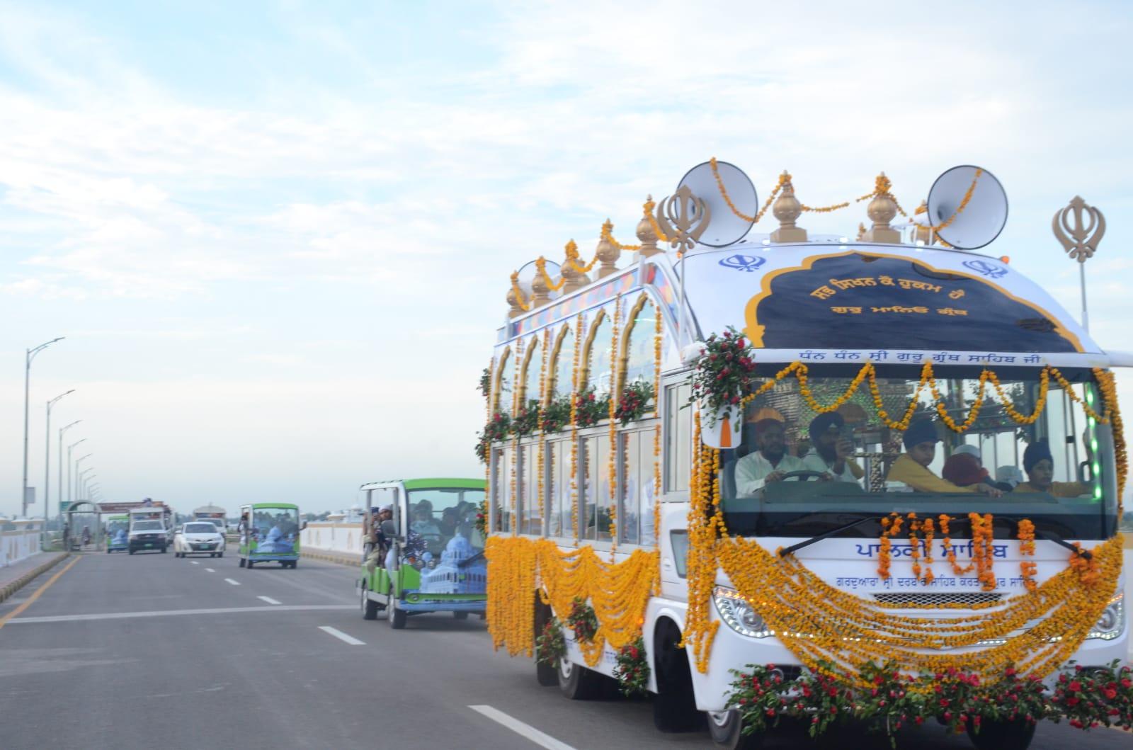 Nagar Keertan was carried out from Gurdwara Darbar Sahib Kartarpur till Zero line